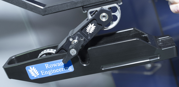 Rowan's new adjustable forend mechanism, complete with base plate